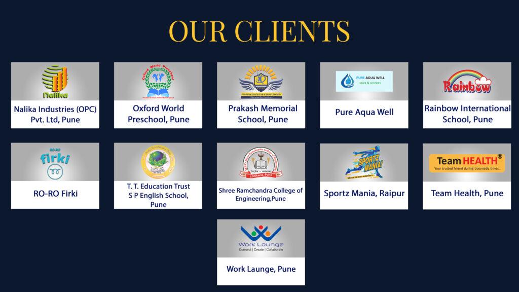 Client list of VM3 Tech Solutions LLP